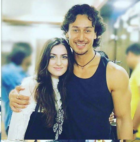 Elif Khan with Tiger Shroff