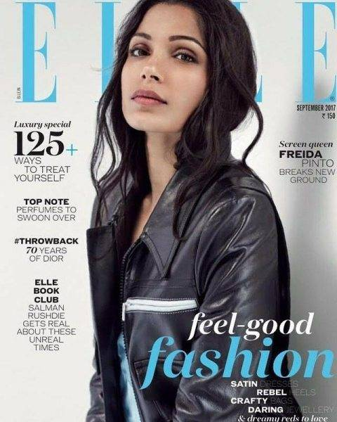 Freida Pinto on the cover of ELLE India magazine