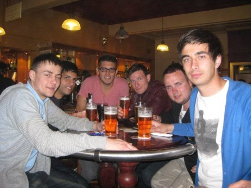 Cory Tran enjoying an evening beer with his friends