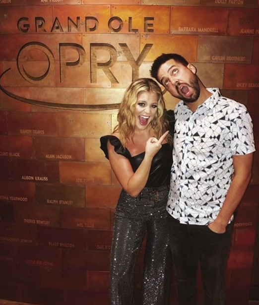 "Lauren Alaina and John Christ ""data-caption ="" Nice work @opry @johnbcrist, so proud of you."