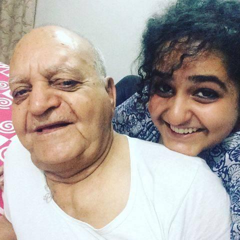Jannabi Das with his grandfather