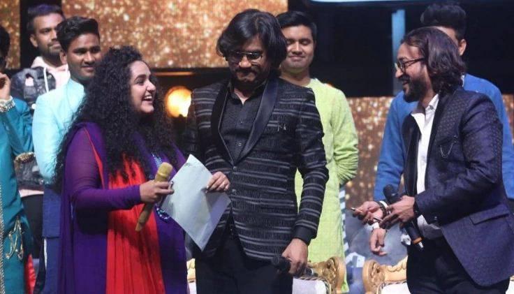 Jannabi Das with music composers Ajay-Atul