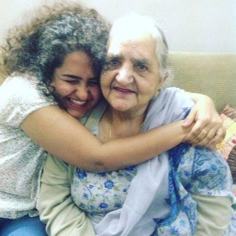 Jannabi Das with her grandmother