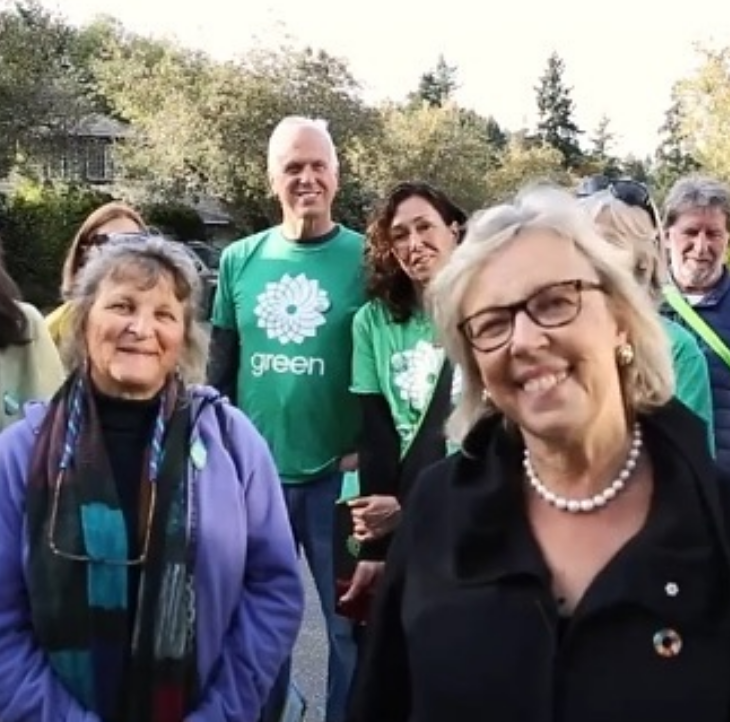 Elizabeth May and Green Party Volunteers