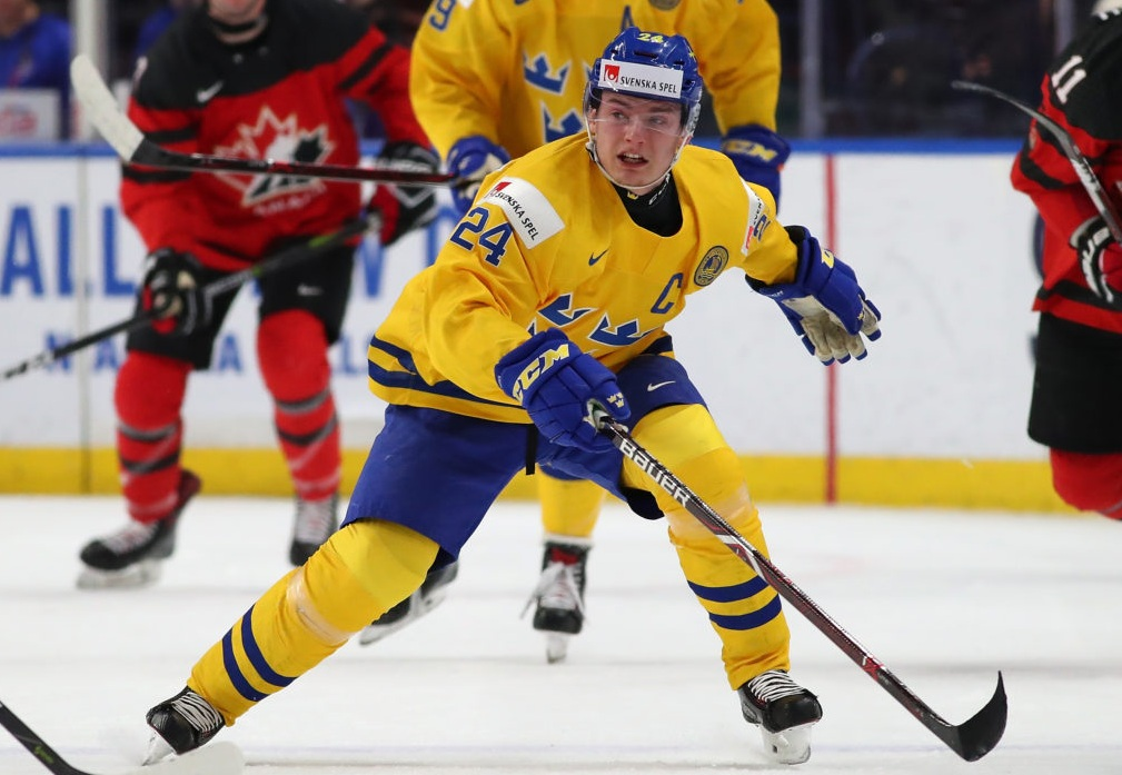 "Lias Andersson teams ""data-caption ="" New York Rangers center forward Lias Andresson. ""Data-source ="" @ theathletic"