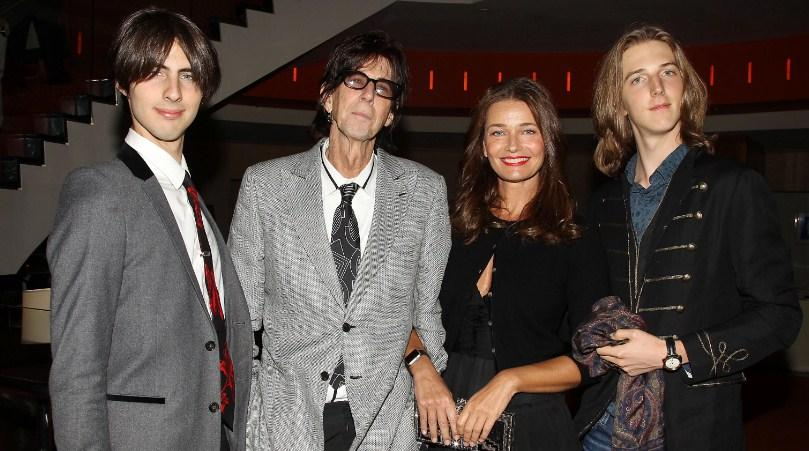 Paulina Porizkova and Ric Ocasek with their sons.