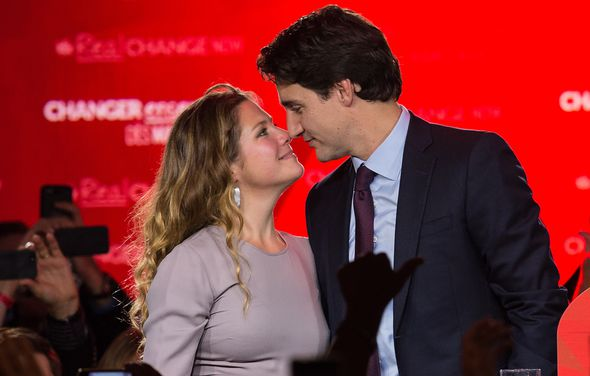 Canadian Prime Minister Justin Trudeau and his wife
