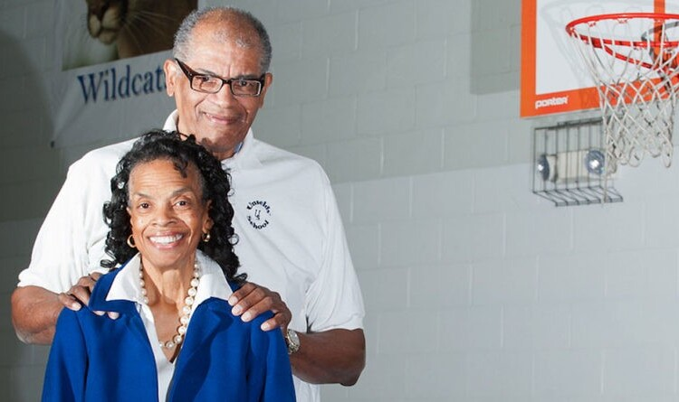 Connie Unseld and her husband Wes Unseld
