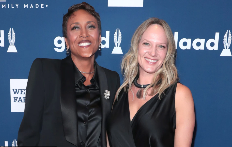 Robin Roberts with her partner; Amber Laign