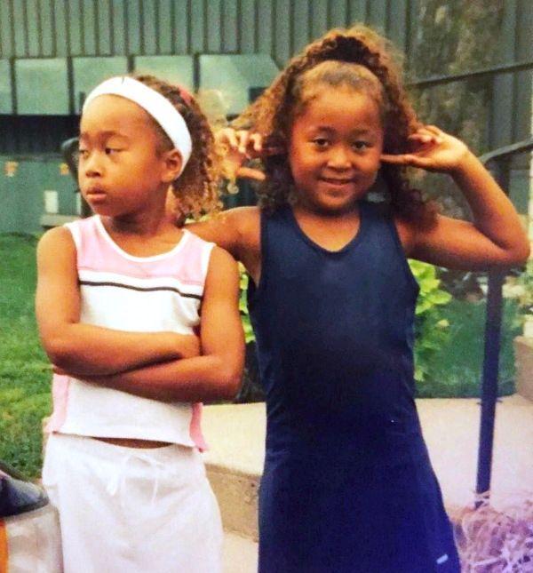 Naomi Osaka Bio Wiki, Boyfriend, Family,  Facts, Childhood, Net Worth - Naomi Osakas childhood photo with her sister