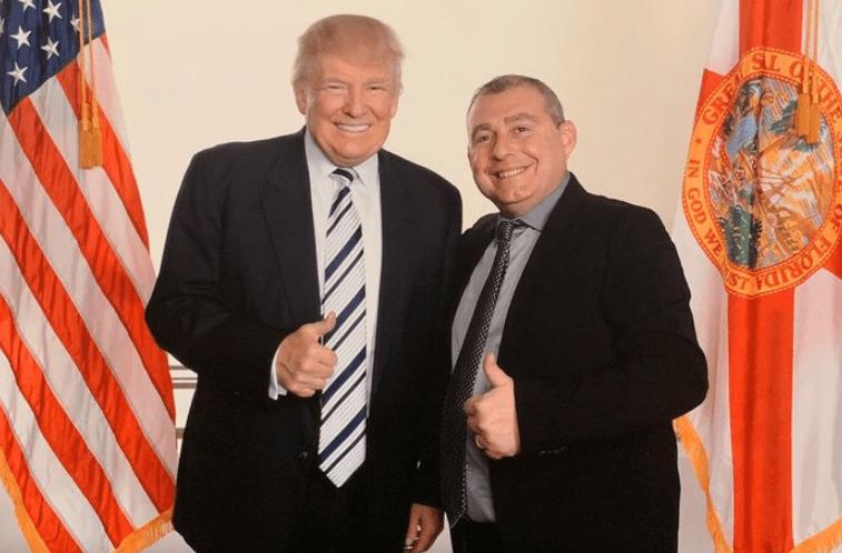 President Trump and Lev Parnas