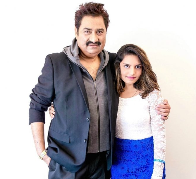 Shannon K with her father Sanu Kumar