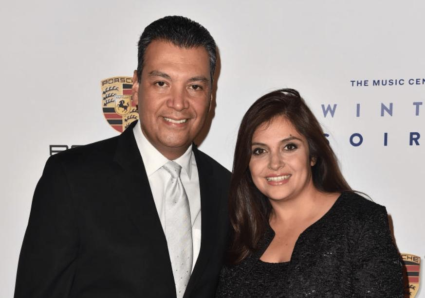 Alex Padilla and his wife Angela Padilla