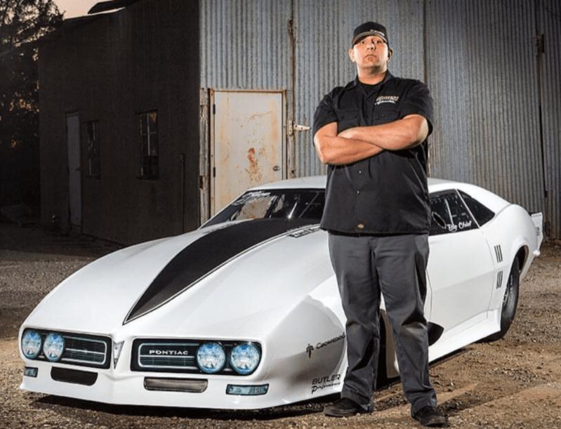 Justin Shearer and his car