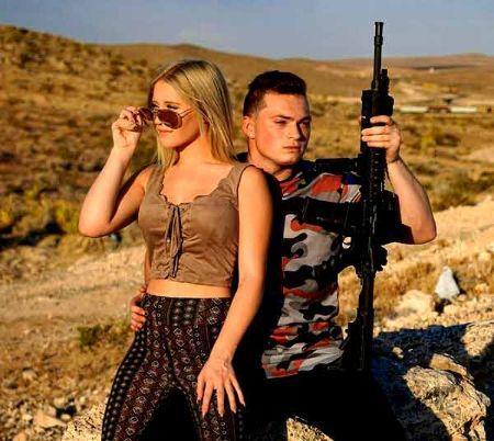 Lance Stewart with girlfriend