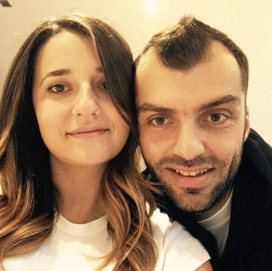 Goran Pandev and his wife Nada Pandeva