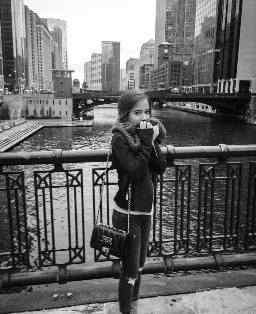 Lydia posted her photo on Instagram when she was in Chicago.