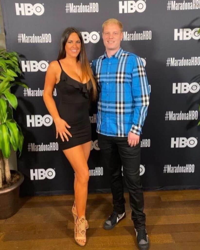 Claudia Romney with her boyfriend Chris.