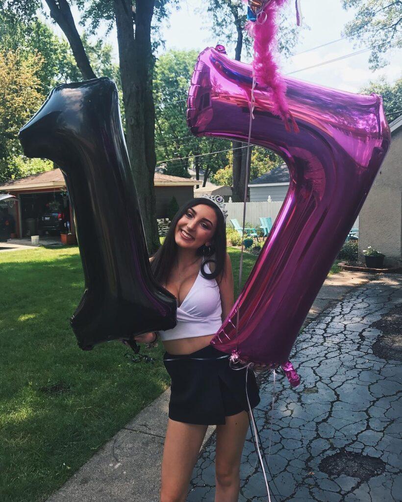 Alexis Simon on her seventeenth birthday.