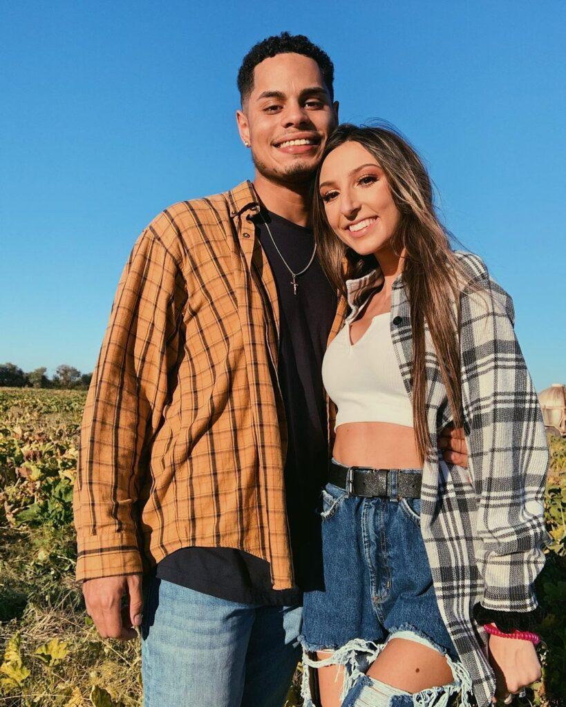 Alexis Simon with her boyfriend,.
