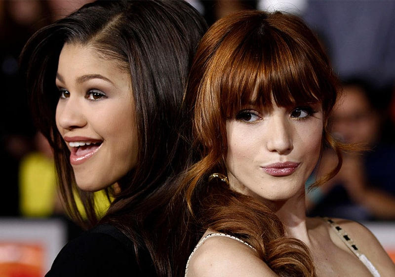 Bella, from Shake it up with her co-star, Zandia.