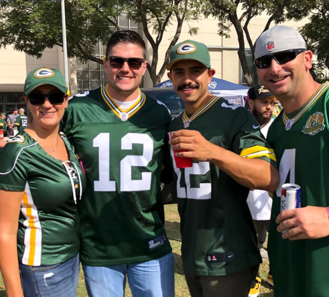Joshua Hall is a fan of the Green Bay Packers