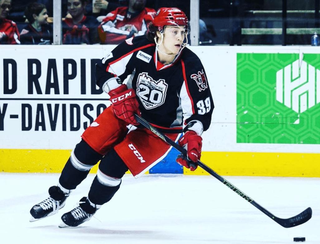 Canadian ice hockey striker Tyler Bertuzzi