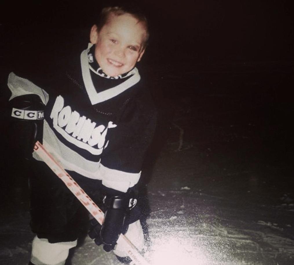 Tyler Bertuzzi during his childhood