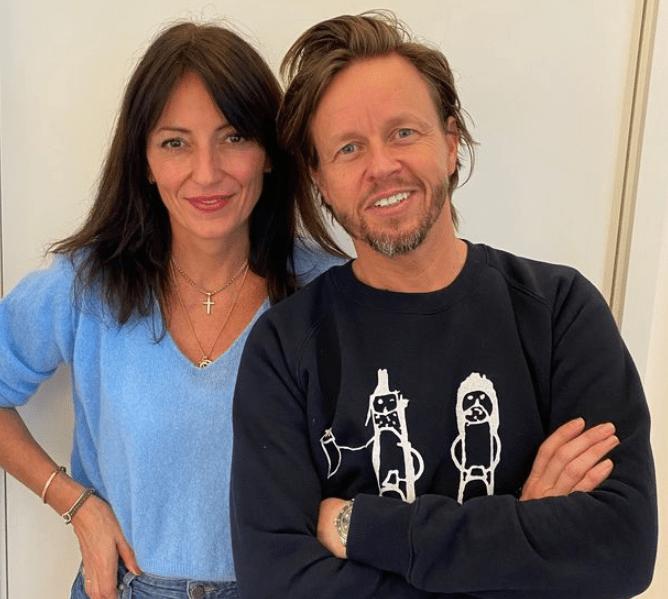 Davina McCall and her new boyfriend Michael Douglas