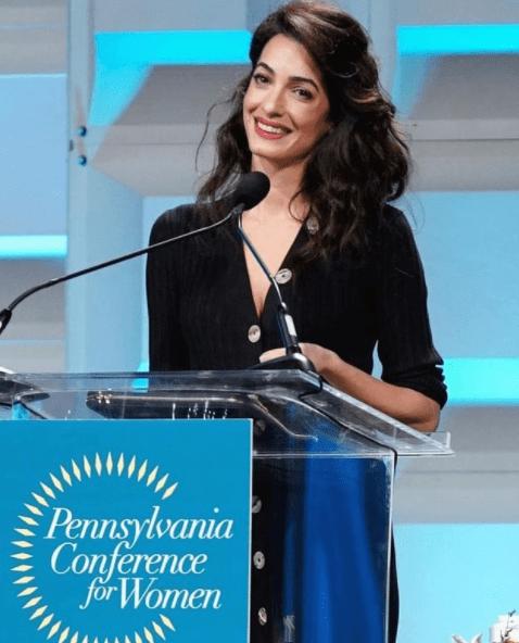 Lebanese-British lawyer Amal Clooney