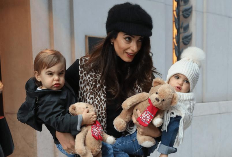 Amal Clooney twins children