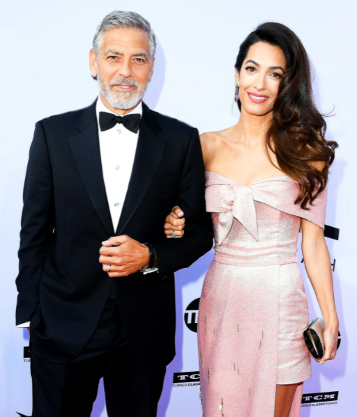 Amal Clooney and her husband George Clooney